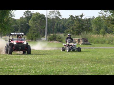 Louies first ride on a Quad Racer!  And RZR 900 vs LTR450  PowerModz! - UCeWinLl2vXvt09gZdBM6TfA