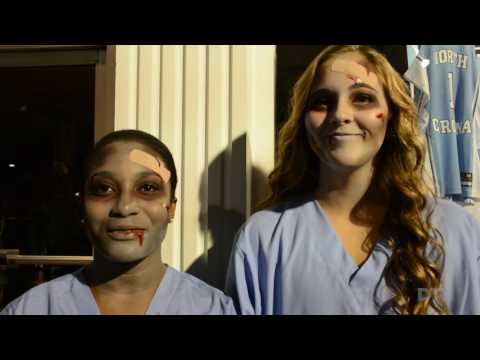 """Students and Chapel Hill residents flock to Franklin Street to celebrate the town's annual """"Homegrown Halloween""""."""