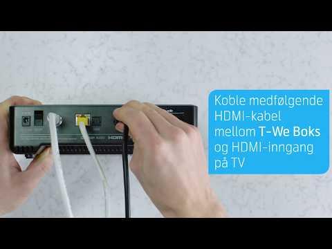 Eksperthjelp: Slik installerer du T-We Boks | Fiber | Telenor Norge