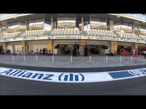 Abu Dhabi GP 2014 timelapse