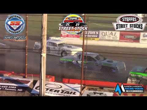 Sheyenne Speedway Steffes WISSOTA Street Stock Tour A-Main (6/13/21) - dirt track racing video image