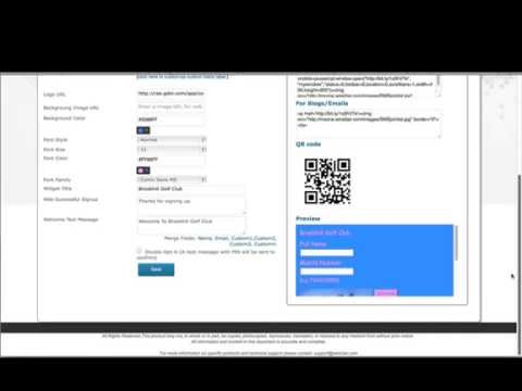 Create web sign up form to collect mobile numbers from website, blog, and facebook?