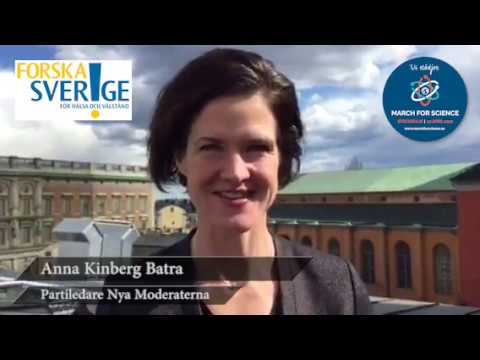 Varför stödjer du March for Science? Anna Kinberg Batra, partiledare Nya Moderaterna