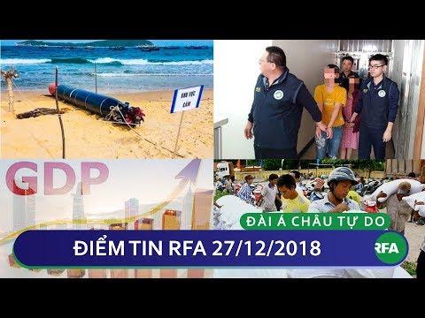 Điểm tin RFA tối 27/12/2018   Hơn 10 người trong 152 du khách Việt bỏ trốn tại Đài Loan bị bắt
