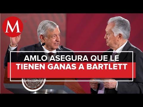AMLO: a Manuel Bartlett «le traen ganas» por resolver saqueo en CFE