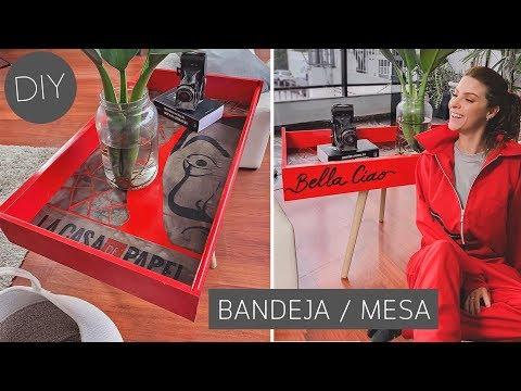 DIY Lixo ao Luxo, Transformando Gaveta de Caçamba em Bandeja / Mesa Lateral! La Casa de Papel