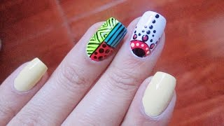 Youtube Decoración De Uñas Tribal Tribal Nail Art Masgleecom