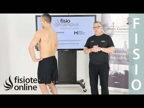 Primer ejercicio ortoestático programa base, etapa última. Marcel Caufriez Método hipopresivo