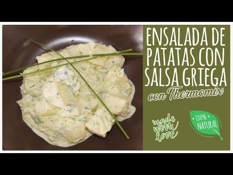 Ensalada de patata con salsa griega