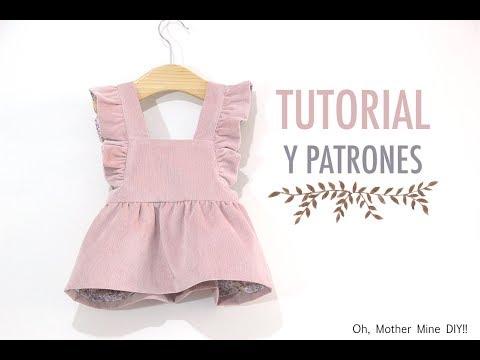 DIY Costura pichi de pana para niñas (patrones gratis)