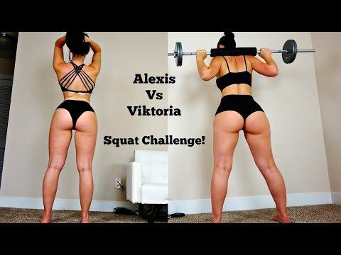 BIG BOOTY Girls Squat Contest: Viktoria vs Alexis, Who Will Win! - UCfzp-VtceORLoJlX32OcbdA