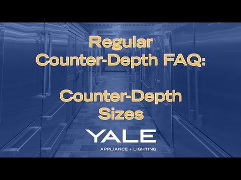 Sizes of Counter-Depth Refrigerators
