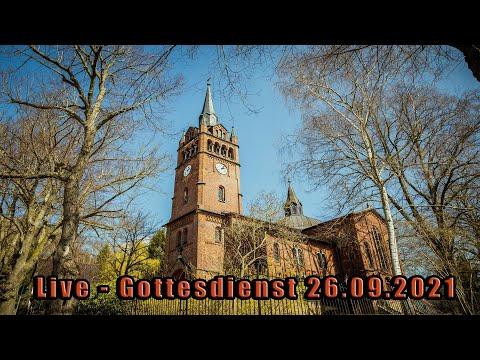 Live - Gottesdienst zu Erntedank 09:00 Uhr am 26.09.2021
