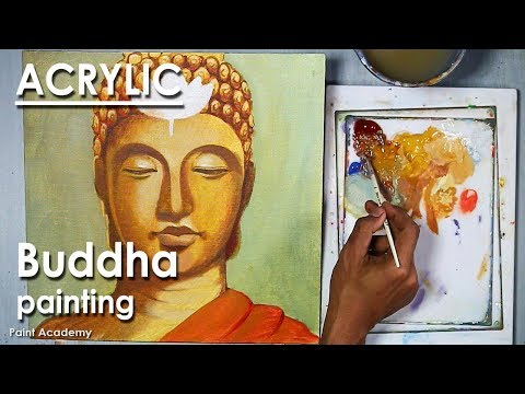 Creative Buddha Painting Acrylic on Canvas