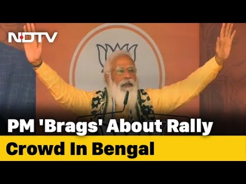 """Bengal Assembly Election: """"Elated To See A Large Crowd"""": PM In Bengal Rally"""