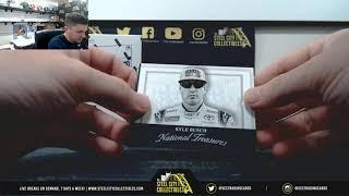 2017 Panini National treasures Racing Hobby Box x2 Live BReak - Kenny S