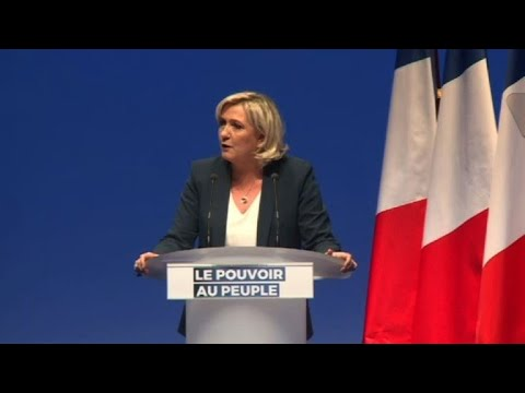 Marine Le Pen disparages Macron ahead of European elections