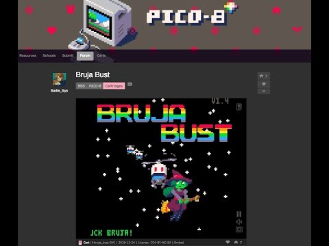 BRUJA BUST on Pico-8 by Sadie_Sys