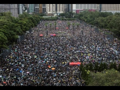 Breaking 1.7 Million Hong Kong Peaceful Protestors Hold Massive Rally For Freedom