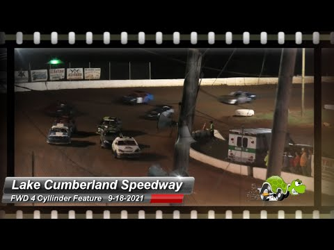 Lake Cumberland Speedway - FWD 4 Cylinder Feature - 9/18/2021 - dirt track racing video image