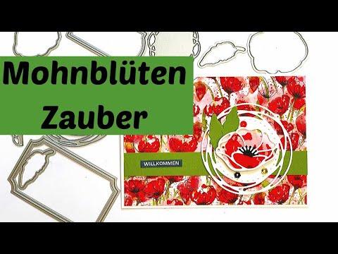 Mohnblüten/Mohnblumen von Stampin' Up!--Stanzformen Bezaubernde Etiketten