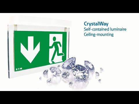 Ceiling-mounted CrystalWay installation