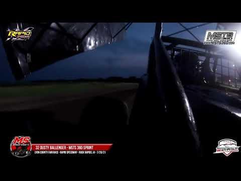 32 Dusty Ballenger | Rapid Speedway | 7-20-21 - dirt track racing video image