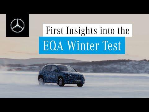 Mercedes-Benz EQA: Winter Testing