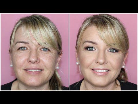 Mature Aged Client Tutorial ♡ Glowy Skin, Dramatic Eyes, Nude Lips ♡ Jasmine Hand - UCuGWDiuIVLEpiAbIC4Ack9w