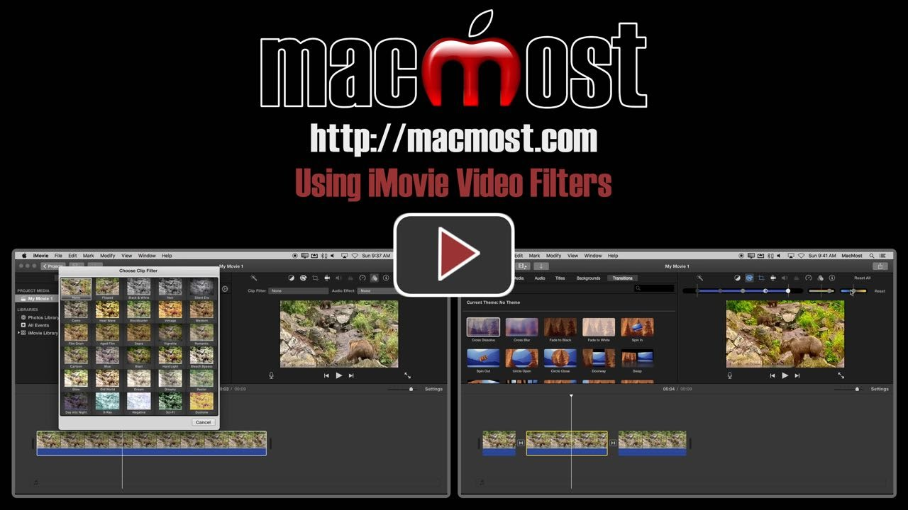 Using imovie video filters macmost ccuart Gallery