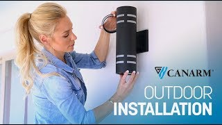 Video: How to Install an Outdoor Wall Light | Canarm