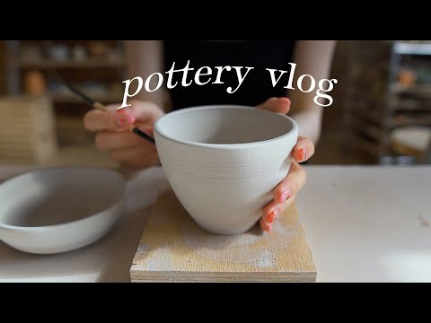 I Tried Pottery for the First Time *satisfying & relaxing*