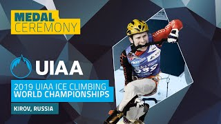 Kirov, Russia l Medal Ceremony l 2019 UIAA Ice Climbing World Championships