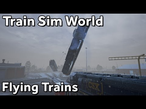 Train Sim World: CSX Heavy Haul Public Betatest (part 2, flying trains)
