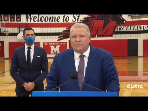 Ontario Premier Doug Ford speaks with reporters in Mississauga – November 26, 2020