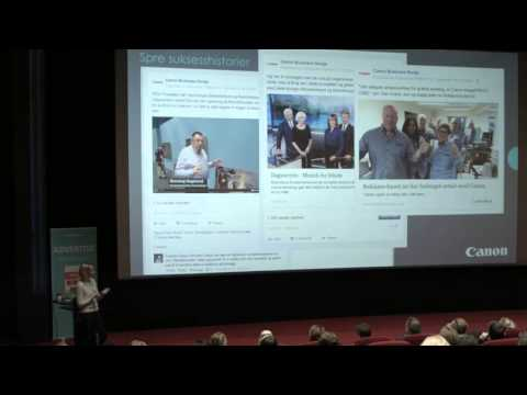 Tonje Angell om Canon og B2B på Facebook under Fanbooster Day