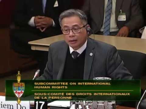 Điều trần về tình hình nhân quyền Việt Nam tại Quốc Hội Canada