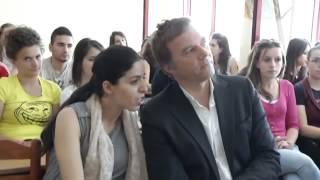 TV ORA NEWS per programin e votuesve te rinj -Vizita e z. Leidekker