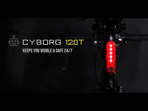 Blitzu Cyborg 120T Bike Taillight Bright LED Bicycle Rear Light, USB Rechargeable