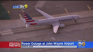 Planes Diverted, Stranded At John Wayne Airport During Power Outage