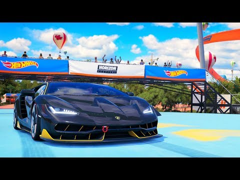 Forza Hot Wheels - Part 14 - Lamborghini Centenario vs Hot Wheels Track!