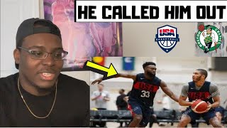 CELTICS FAN REACTS TO JAYSON TATUM CALLING OUT JAYLEN BROWN | Team USA King of the Court