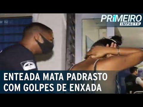 Enteada mata padrasto com golpes de enxada após discussão   Primeiro Impacto (14/09/21)