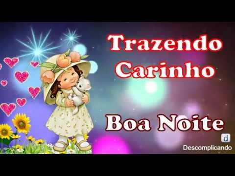 Linda Mensagem de BOA NOITE - TRAZENDO MUITO CARINHO - para whatsapp