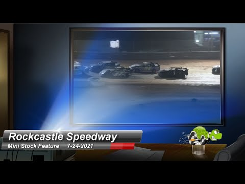 Rockcastle Speedway - Mini-Stock Feature - 7/24/2021 - dirt track racing video image