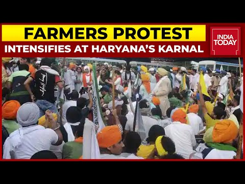 Farmers Protest Intensifies At Haryana's Karnal, Internet And SMS Services Suspended Till Midnight