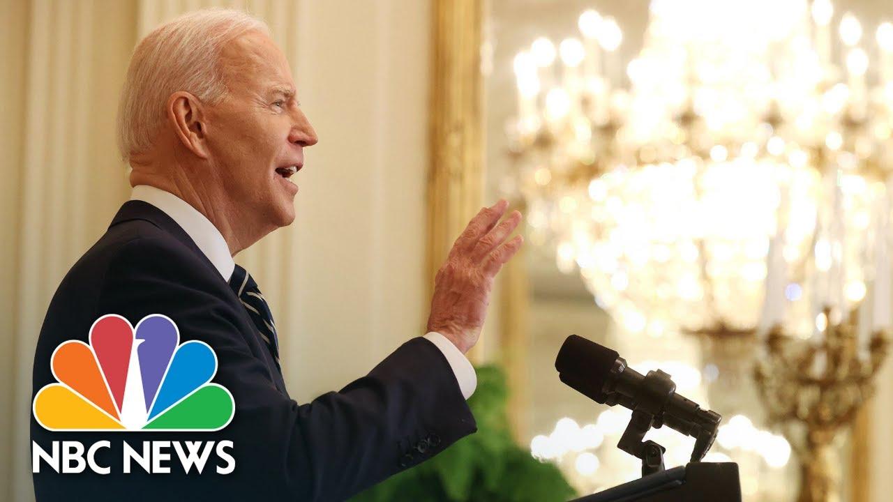Chuck Todd Breaks Down Biden's First News Conference | NBC News