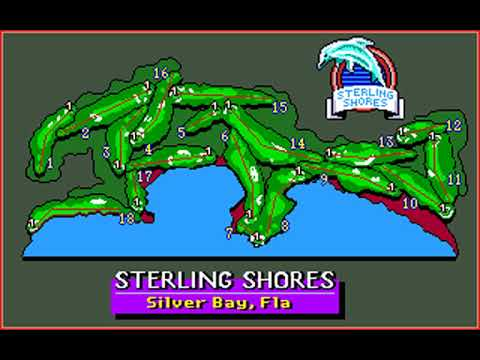 PGA Tour Golf (Sterling Classic at Sterling Shores) (Sterling Silver) (MS-DOS) [1990] [PC Longplay]