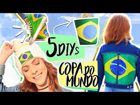 DIY :: 5 Dicas p/ Torcer na Copa do Mundo!!! – Brasil inspired