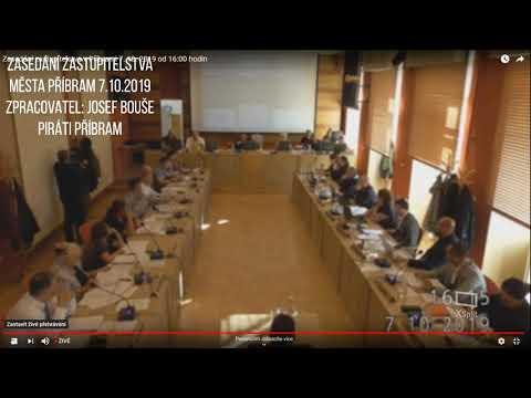 Zasedání zastupitelstva města Příbram 7.10.2019